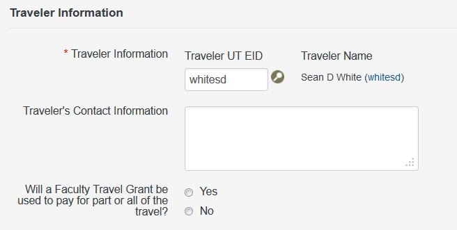 Request Form System Help - Travel Authorization Request